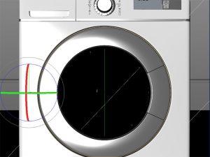 3DCG洗濯機のフタが完全に閉まった状態