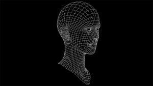 CG女性の顔のワイヤーフレーム