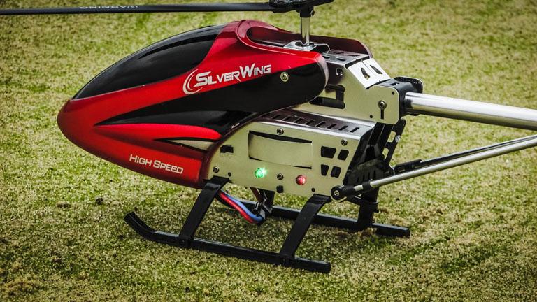 ヘリのラジコンのアップ