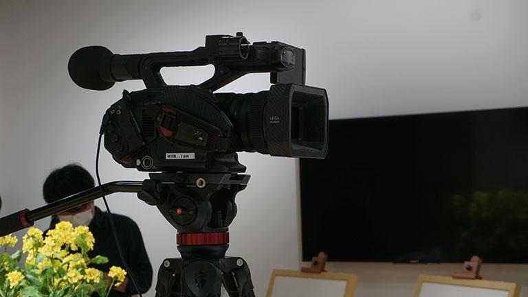 ライブ配信に使用するカメラ