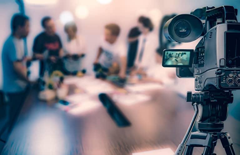 映像制作をする人たち